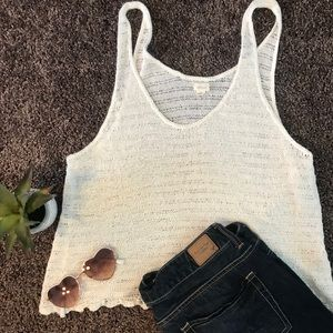 Aerie white tank top size large